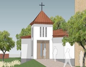 De eerste paal voor de kapel wordt enige weken uitgesteld.